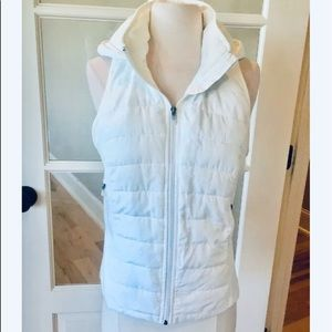 White Jacket Sleeveless Vest Hoodie Women S Puffer